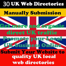 Manually submit website in 30 UK citations web directories Website Traffic SEO