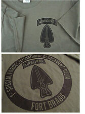 Delta Force Airborne (1st SFOD-D) Fort Bragg Silk-Screened T-Shirt LARGE Ultra C
