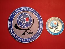"FRENCH SECURITY AGENCY PATCH: 85mm  /3.25"" DGSE PATCH  & PHONE STICKER"