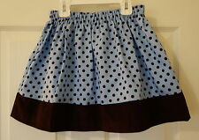 Brand New Kelly's Kids Blue/Brown Dot Lily Skirt ~ Girl's Size 14-16 Year