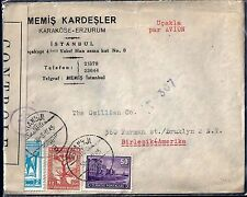 TURKEY 1945 WAR TIME US CENSOR COVER ISTANBUL TO NEW YORK