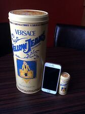 Gianni Versace Jeans Empty Perfume Tin Giant & Miniature Yellow L1