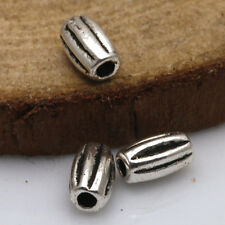 Lots Fashion Lots 50Pcs Tibetan Silver Crafts Oval Findings Spacer Beads TA1861