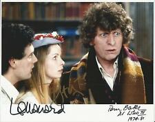 Hand Signed 8x10 photo TOM BAKER Daniel Hill Lalla Ward DR DOCTOR WHO + my COA
