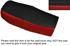 DARK RED & BLACK CUSTOM FITS HONDA CB 750 F1 76-78 DUAL LEATHER SEAT COVER
