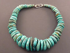 MASSIVE TURQUOISE PEBBLE DESIGNER NECKLACE