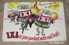 vintage IXL JAM TIN SIGN new retro metal advertising CAN FRUIT Australian KITSCH