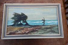 Vintage Oil Painting Signed MSD Framed 50's MILFORD ON SEA HAMPSHIRE Rustic Chic