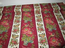 Waverly Rochelle Colorful Rooster Red Yellow Blue French Country Toile Fabric