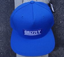 Grizzly Griptape Blue Patch Front Mens Skate Co. Snapback Hat HTDMD-391