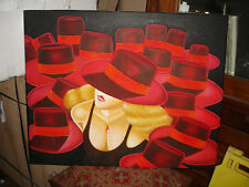 Oil Painting-Red Hat Woman