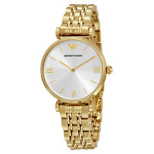 Emporio Armani Classic Silver Dial Gold-tone Ladies Watch AR1877