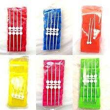 HAIR ROLLERS WITH PINS - 6 SIZES VARIOUS COLOURS- 65mm length