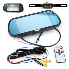 "7""Car TFT Digital LCD Monitor Mirror W/ Car Rear View Parking Backup Camera Kit#"