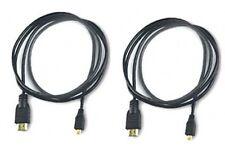 2 HDMI Cables for Fuji FujiFilm XP50 XP100 XP110 XP150 XP160 XP170 F305 EXR Z800