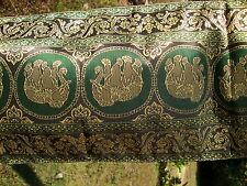 THAI TABLE BED RUNNER GREEN / BLACK / GOLD 9in x 72in