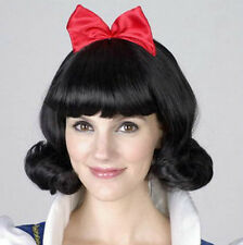 Snowwhite Princess Black Short Curly Wigs Party Cosplay Wig Synthetic DAILY Wig