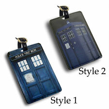 tardis doctor who police door pu leather Luggage Tag travel, Bag Tag, ID Tag