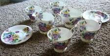 VINTAGE QUEEN ANNE BONE CHINA TEA SET SPRING MELODY CUPS SAUCERS CREAMER SUGAR