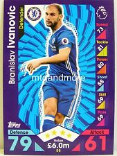 Match Attax 2016/17 Premier League - #058 Branislav Ivanovic - Chelsea FC