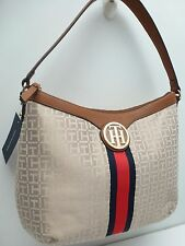 TOMMY HILFIGER Women's Handbag*Khaki/Tan Shoulder Purse Tote New $79