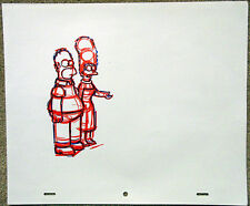 SIMPSONS Original Animation Art Cel Production Drawing Homer Marge #7