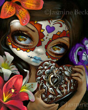 Jasmine Becket-Griffith art print day of the dead heart SIGNED Milagros: Corazon