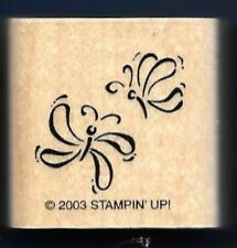 DRAGONFLY FLIGHT Insect Background Spring Party Stampin' Up! 2003 RUBBER STAMP
