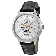 Montblanc Meisterstuck Heritage Perpetual Calendar White Dial Black Leather