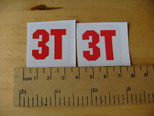 3T logo Mtb / Bike Decals Self Adhesive  A Pair (5)