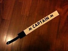 Captains armband PREMIER LEAGUE Match Worn Issue VERY OLD WHITE Fascia Capitano