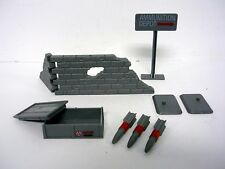 GI JOE MISSILE DEFENSE UNIT Vintage Action Figure Playset NEAR COMPLETE 1984