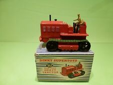 DINKY TOYS 963 BLAW KNOX HEAVY TRACTOR - RED - EXCELLENT CONDITION IN BOX