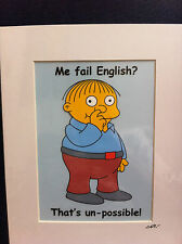 The Simpsons - Ralph Wiggum -  Hand Drawn & Hand Painted Cel