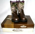 REALTREE AP CAMOUFLAGE YOUTH COWBOY BOOTS DUSTIN JR. - LICENSED CAMO, COWBOY