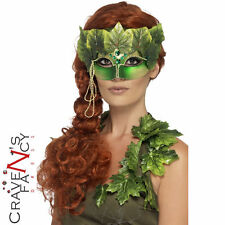 Adult Forest Nymph Eye Mask Ladies Halloween Fancy Dress Costume Accessory