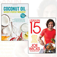 Healthy Eating Recipe Collection Lean in 15 minutes Meals,Coconut Oil 2 Book Set
