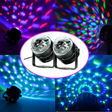 2PCS LED RGB DJ Club Disco Party Magic Ball Crystal Effect Light Stage Ligh