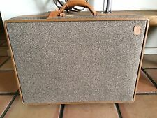 "Hartmann Luggage Tweed/Leather 24"" Suitcase w/ Lock and Wheels"
