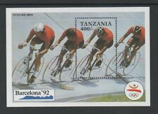 TANZANIA 1991 OLYMPIC GAMES, BARCELONA (1st issue) MIN SHEET MS877a *MNH*