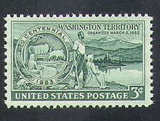USA 1953 Cattle/Wagon/Settlers/Animals/Farming/Mountains/Transport 1v (n37269)