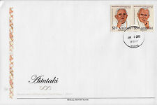 Aitutaki 2011 FDC Beatification Pope John Paul II 2v Set Cover Religion Benedict