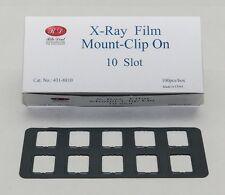 DENTAL UNIVERSAL X-RAY FILM MOUNT FRAMES SIZE #2 CLIP ON 10 SLOT 100PC/BOX