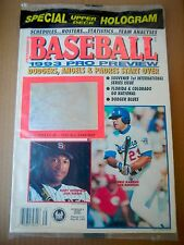 1993 Baseball Magazine. pro preview edition:Griffey hologram -Dodgers, Angels
