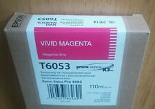 05-2014 NEW IN BOX GENUINE EPSON T6053 VIVID MAGENTA K3 INK STYLUS PRO 4880
