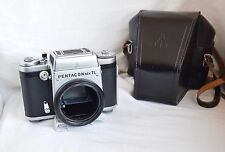 Pentacon Six TL * SLR Film Camera Body sn: 79362 viewfinder * tested case , n167