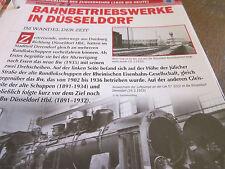 Deutsche Eisenbahngeschichte Zugverkehr Bahnbetriebswerke in Düsseldorf