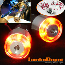 7/8'' Motorcycle Bike Handle Bar End LED Plug Turn Signal Light Amber For Honda