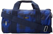 FRED PERRY CHECK NYLON BARREL BAG SHOULDER GYM BAG GENUINE L3157-A20