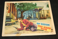 1957 The Hard Man Lobby Card 57/552 #3 Guy Madison (C-5)